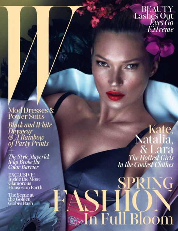 Kate Moss the great on Wmag March