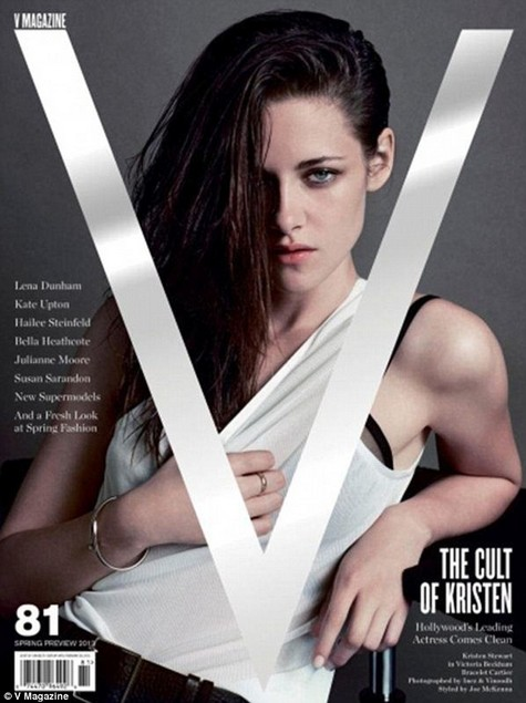 Kristen Stewart on the February 2013 cover of V magazine