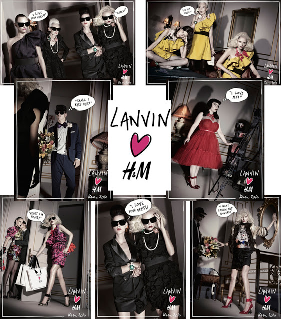 Lanvin H&M Ads