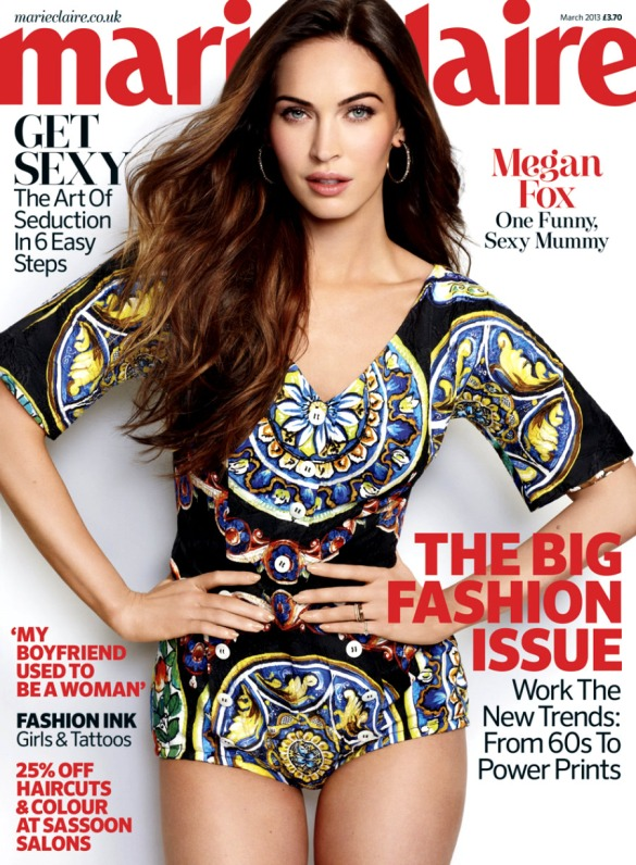 Megan Fox by Matt Jones for Marie Claire UK March 2013