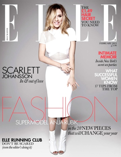 Scarlett Johansson on Elle UK February 2013