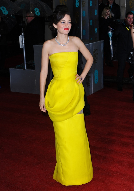 Marion Cotillard at the Baftas 11 Feb 2013