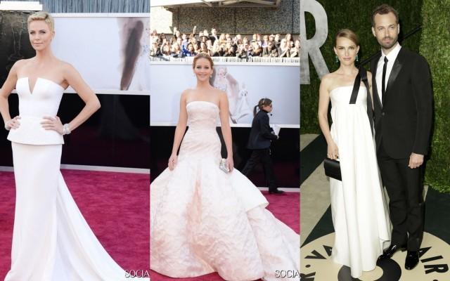 Charlize Theron - Jennifer Lawrence - Nathalie Portman and husband Millepied