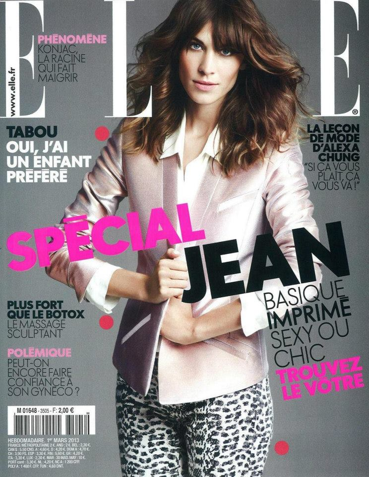 Alexa Chung, fully dressed in Maje on the cover of this ...