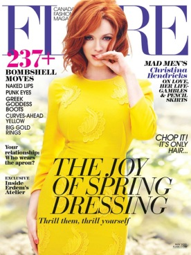 Christina Hendricks on Flare