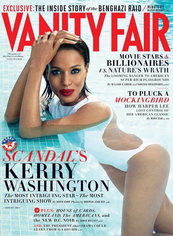Kerry Washington for Vanity Fair August