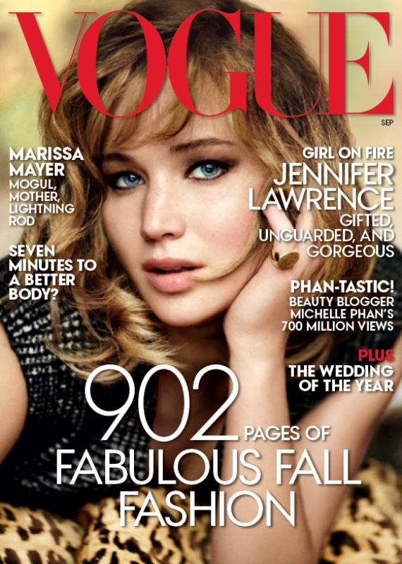 Jennifer Lawrence for Vogue