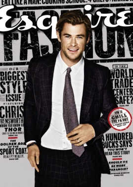 Chris Hemsworth for Esquire