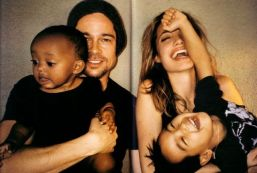 Brad Pitt, Angelina Jolie, Zahara & Maddox