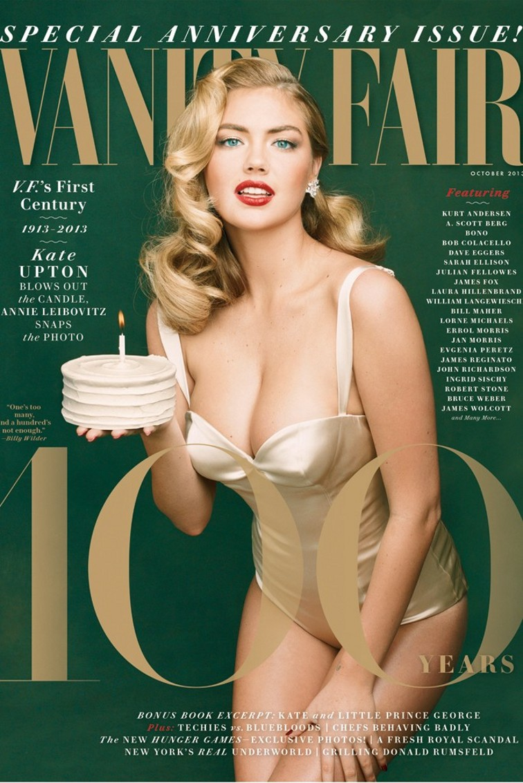 Kate Upton for Vanity Fair October 2013 Special 100th Anniversary Issue by Annie Leibovitz