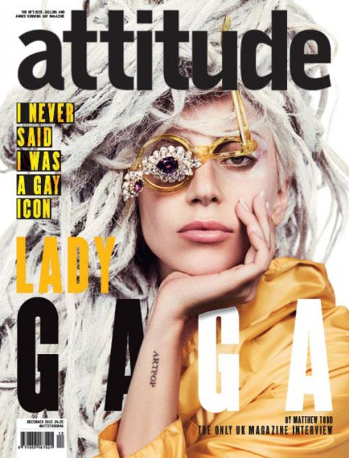 Lady Gaga on Attitude