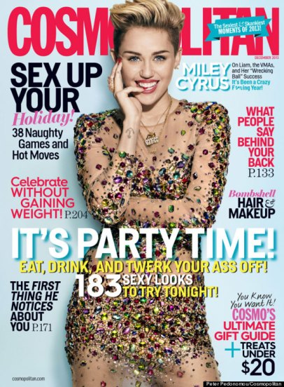 Miley Cyrus on Cosmopolitain