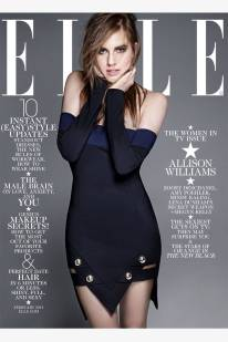 Allison Williams covers Elle US February 2014