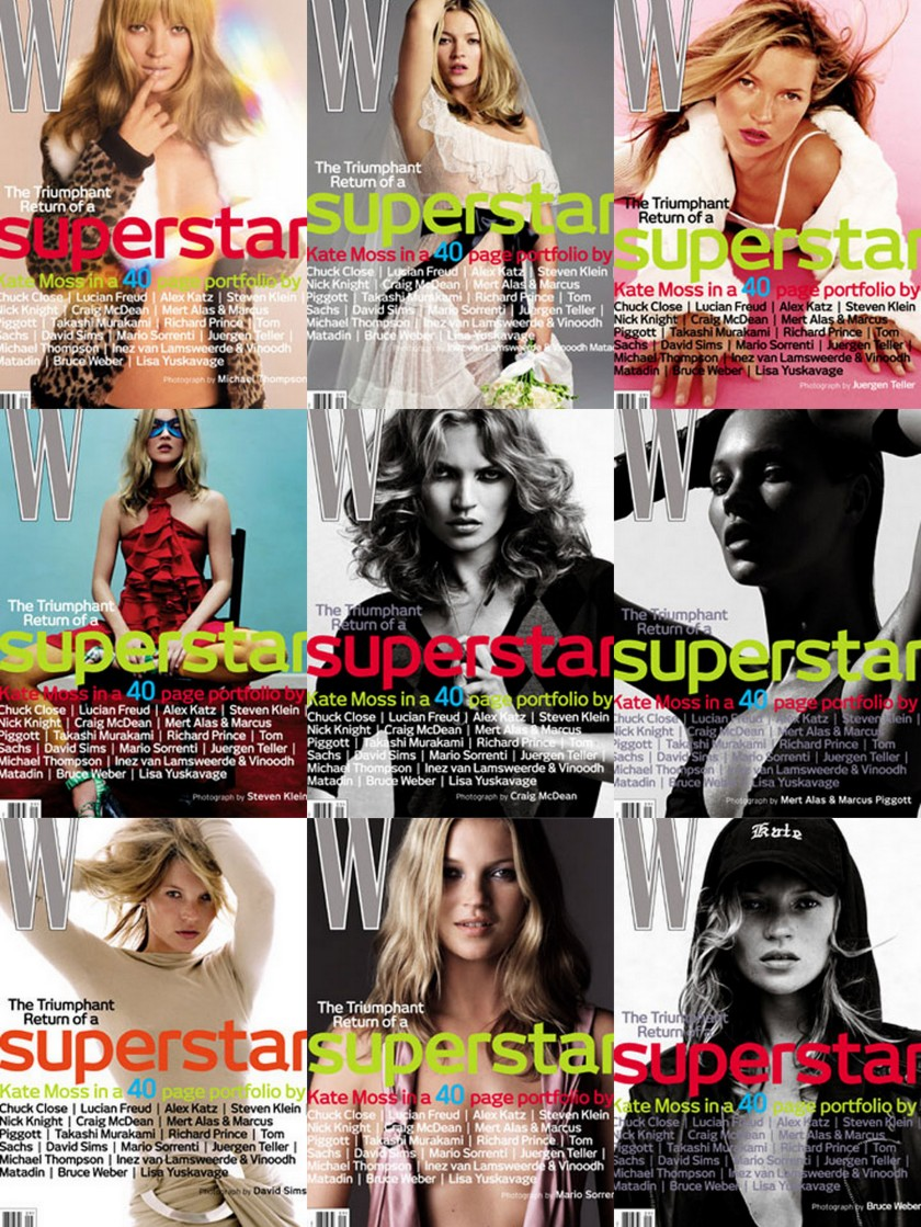 KATE MOSS 9COVERS W