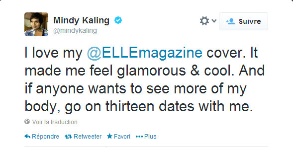 mindy kalling twitter post