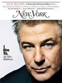 Alec Baldwin on New York Magazine