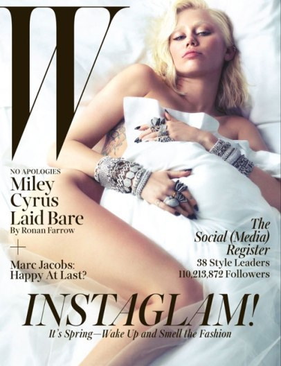Miley Cyrus on Wmag