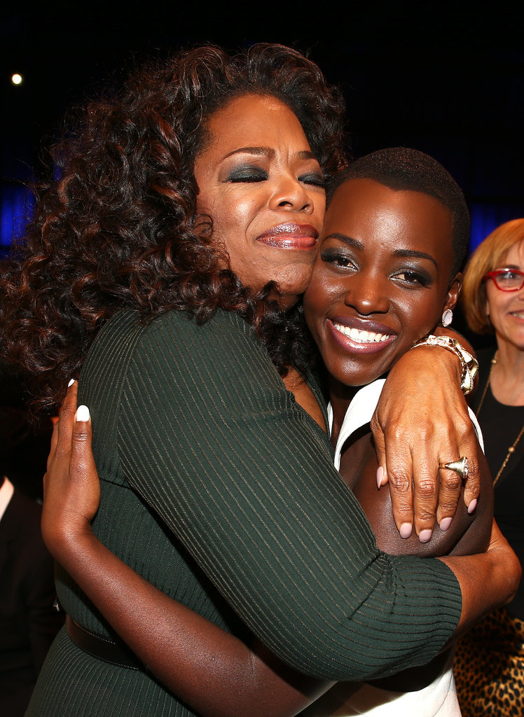 Oprah covered Lupita Nyongo love and support at Critics Choice Awards