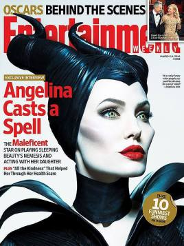 Angelina Jolie as Maleficient on Entertainement