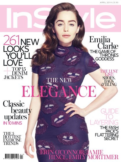 Emilia Clarke as The Game Of Throne Goddes on InStyle Uk