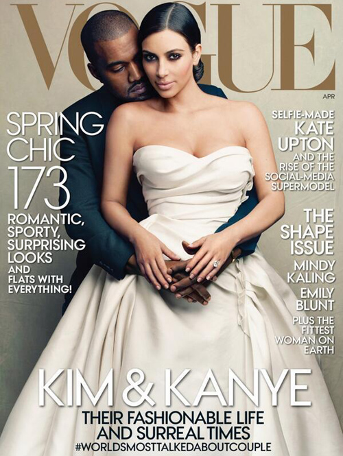 Kim Kanye Vogue cover April