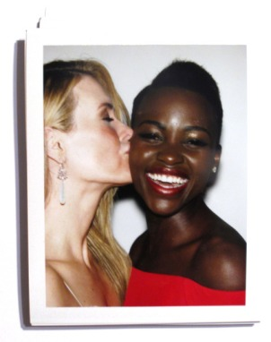 Lupita Backstage Polaroids From Last Night's Golden Globes Awards