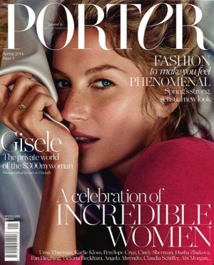 Gisele Bundchen Covers of Porter Magazine, ( Net-a-Porter)