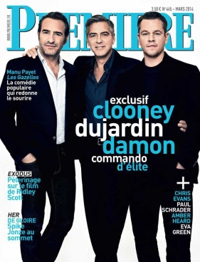 Clooney, Dujardin, Damon on Premiere