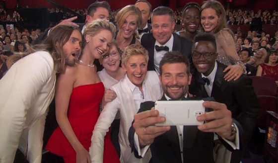selfiesamsung oscars