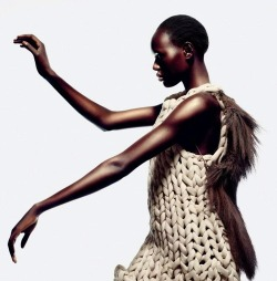"Ajak Deng in ""Tao Yuan"" photographed by John-Paul Pietrus for Numero China, November 2012"