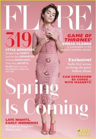 Emilia Clarke on Flare