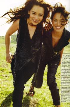 Emilia Clarke and Lena Headey on The Rolling Stones