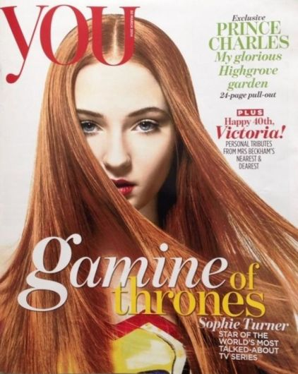 "Sophie Turner in ""Gamine of Thrones"" on You"