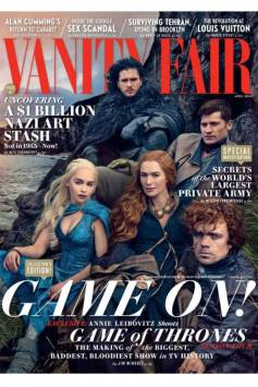 Game of Thrones Cast on Vanity Fair by Annie leibovitz