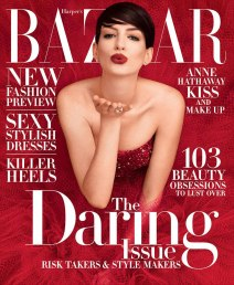Anne Hattaway on Harper's Bazaar