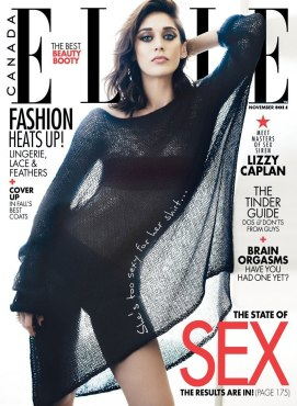 Lizzy Caplan on Elle