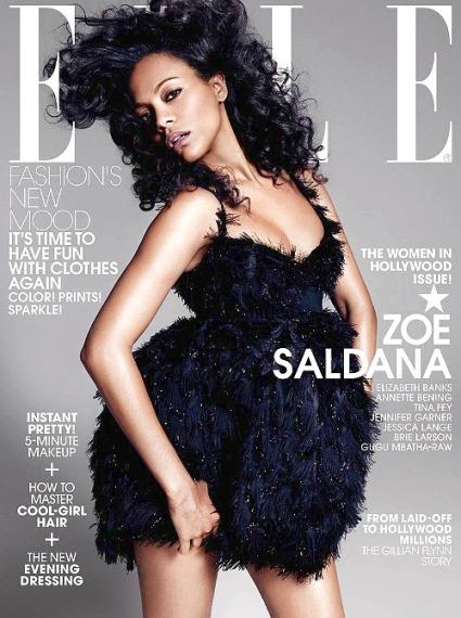 Zoe Saldana on Elle