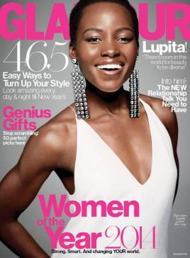 Lupita is the Glamour magazine December 2014 Women of the Year cover star!