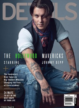 Johnny Depp covers DETAILS Magazine