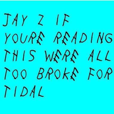 This #TIDALforALL meme lmaoooooooo