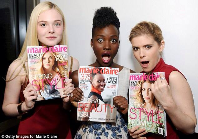 lupita marie claire elle fanning kate mara