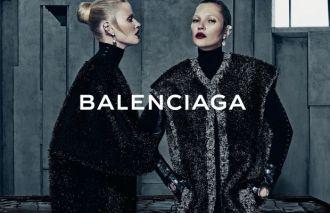Lara Stone and Kate Moss in Balenciaga's fall 2015 campaign 02