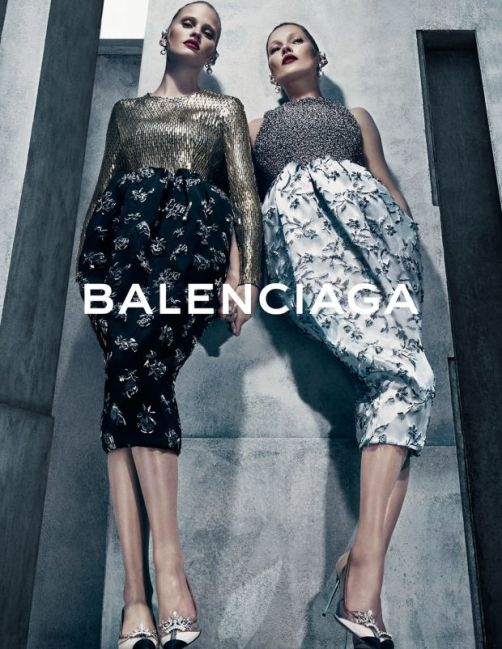 Lara Stone and Kate Moss in Balenciaga's fall 2015 campaign 03