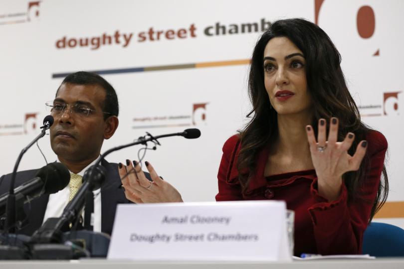 Lawyer Amal Clooney Mohamed Nasheed
